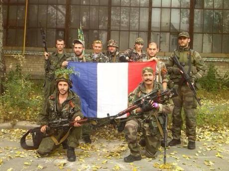 Französische Freiwillige, die für Neurussland kämpfen