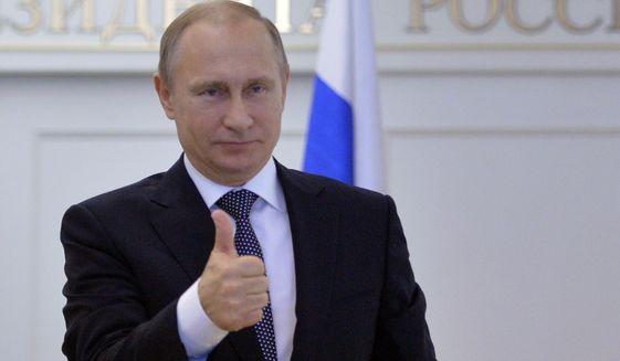 Putin thumb up
