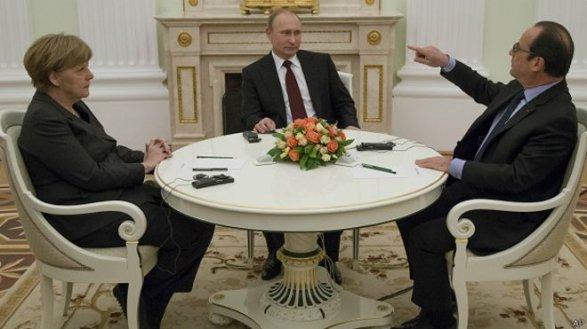 Merkel, Putin, Hollande