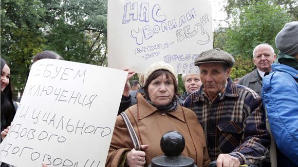 Russian worker strike