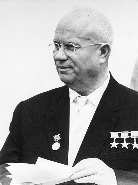 Nikita S. Khrushchev in East Berlin, 1963 (Photo: Bundesarchiv_Bild_183-B0628-0015-035)