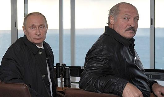 Vladimir Putin and Alyaksandr Lukashenka (Image: fedpress.ru)