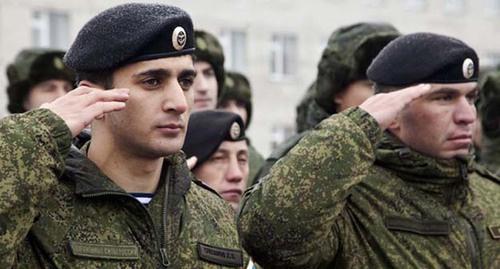 Russian military draftees from Chechnya (Image: kavkaz-uzel.ru)