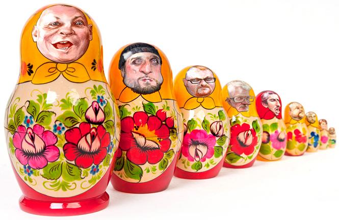 "A Patriotic ""Matryoshka"" Russian Nesting Doll (Image: Denis Lopatin, MaximOnline.ru)"