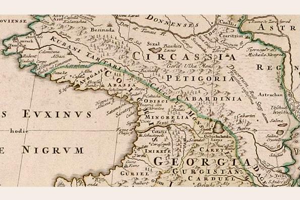 This map shows Circassia and Georgia before the Russian conquest (Image: Johann Homann via Wikimedia)