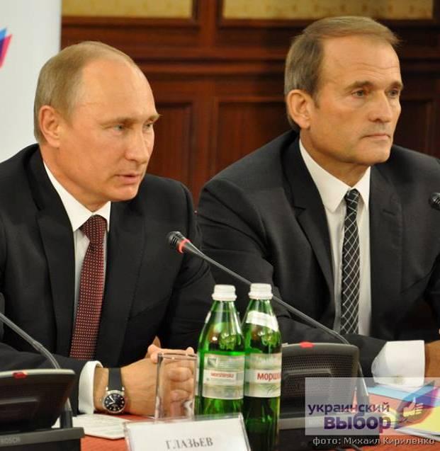 Vladimir Putin and Viktor Medvedchuk