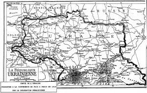 "D'où vient l'expression ""Slava Ukrayini!"" Carte_de_ukraine_1919-300x190"