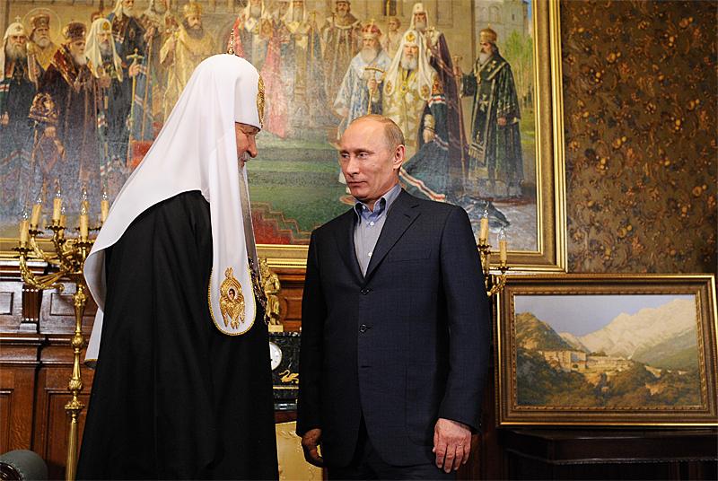 Moscow Patriarch Kirill and Vladimir Putin (Image: mospat.ru)