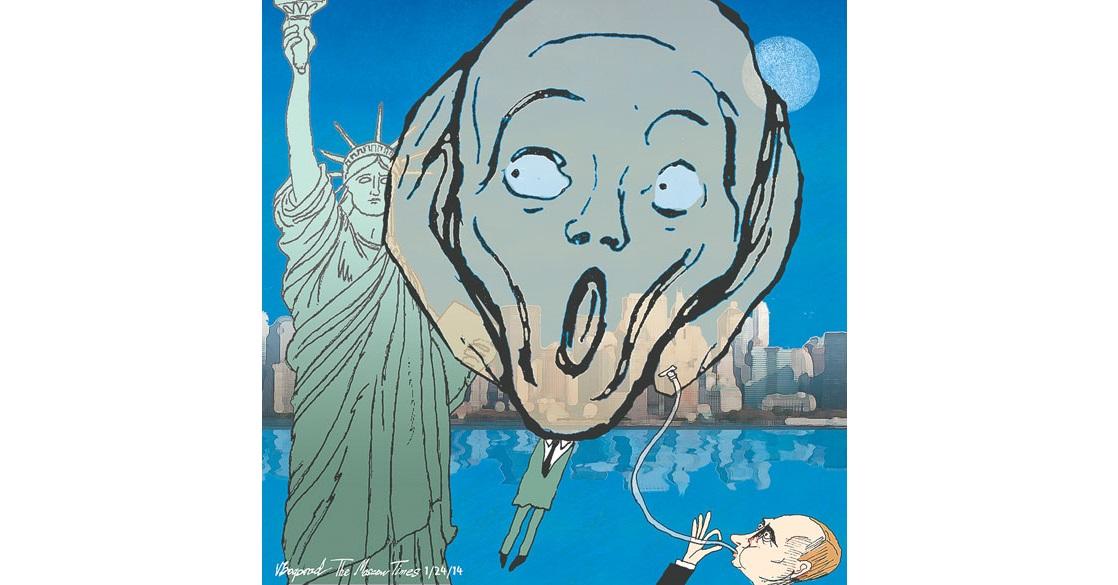 Putin Regime's Anti-Americanism (Image: V. Bogorod, Moscow Times, 2014)