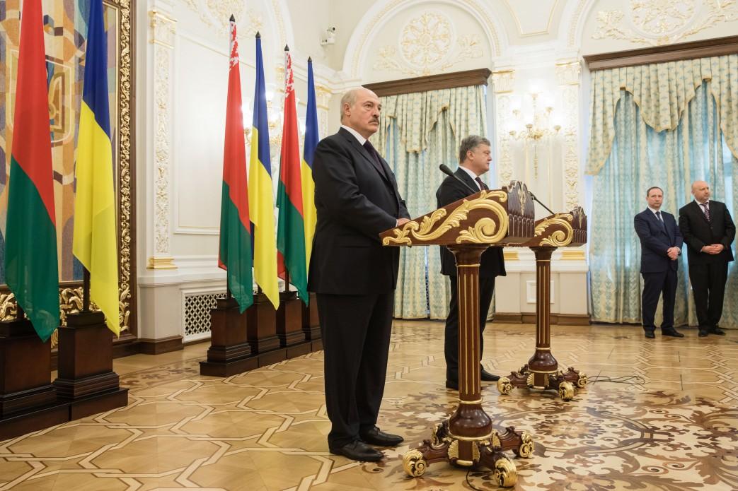 Belarus Alexander Lukashenka, Ukraine Petro Poroshenko