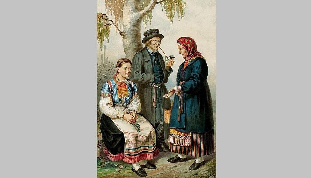 Ingermanlanders / Ingrian Finns (Image: Pauly, Gustav Theodor. Description ethnographique des peuples. Saint Petersbourg: Bellizard, 1862 via Wikimedia)