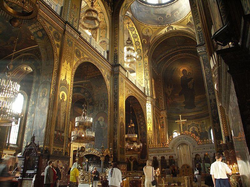 Interior, St. Volodymyr's Cathedral, Kiev on 2 July 2006. (Image: Robert Broadie via Wikimedia)