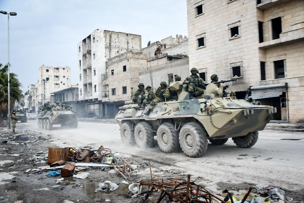 Russian troops in Aleppo, Syria (Image: Wikimedia)