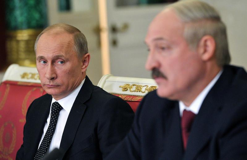 Vladimir Putin and Alyaksandr Lukashenka