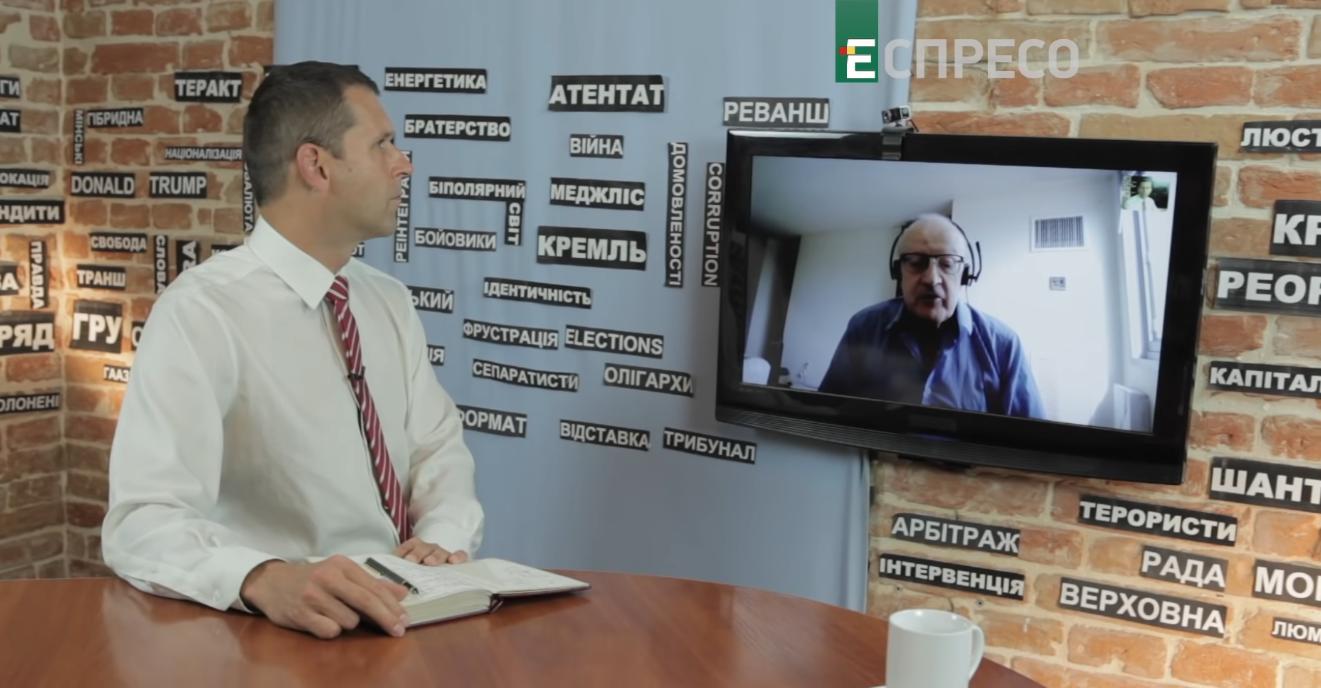 Russian political analyst Andrey Piontkovsky in EspresoTV program Studio West with Antin Borkovskyi, September 7, 2019 (Photo: screen capture)