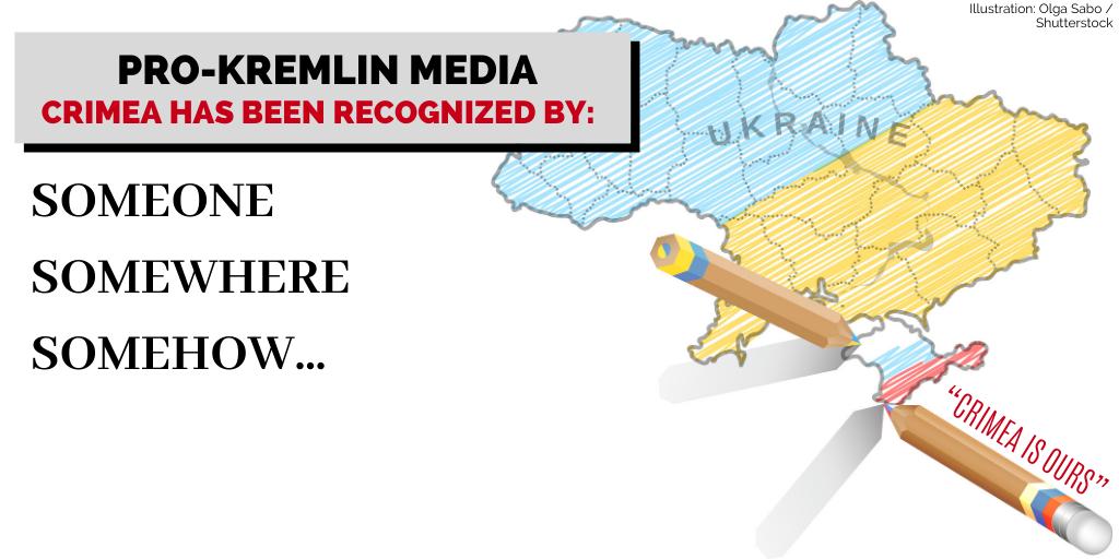 Russian propaganda around Crimean annexation doesn't stop