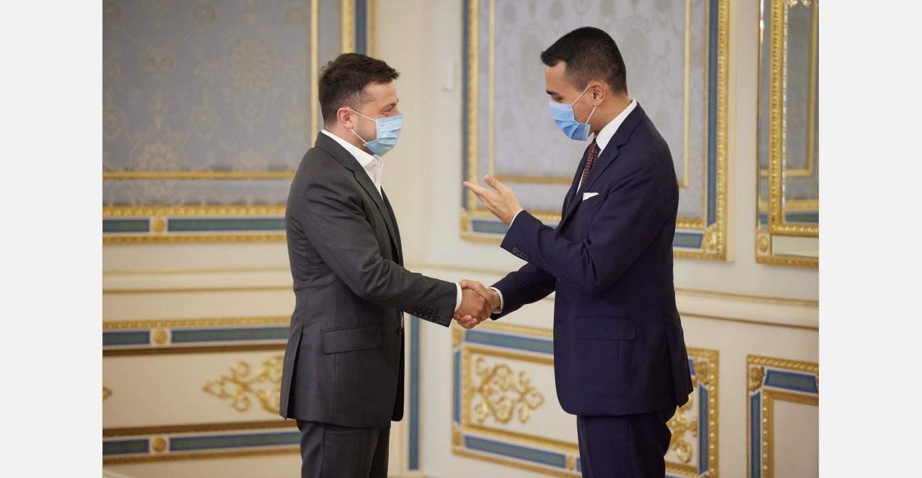 Meeting of Zelensky and Di Maio in Kyiv, June 10, 2021 (Source: President.gov.ua)