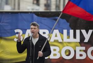 Foto von Boris Nemzow, aufgenommen am 15. März 2014 - AP Photo/Alexander Zemlianichenko