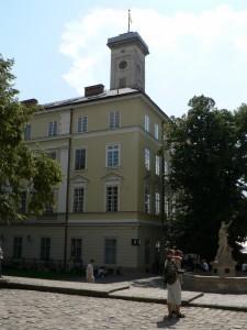 Rynok (Rathausplatz) in Lwiw, Juni 2009