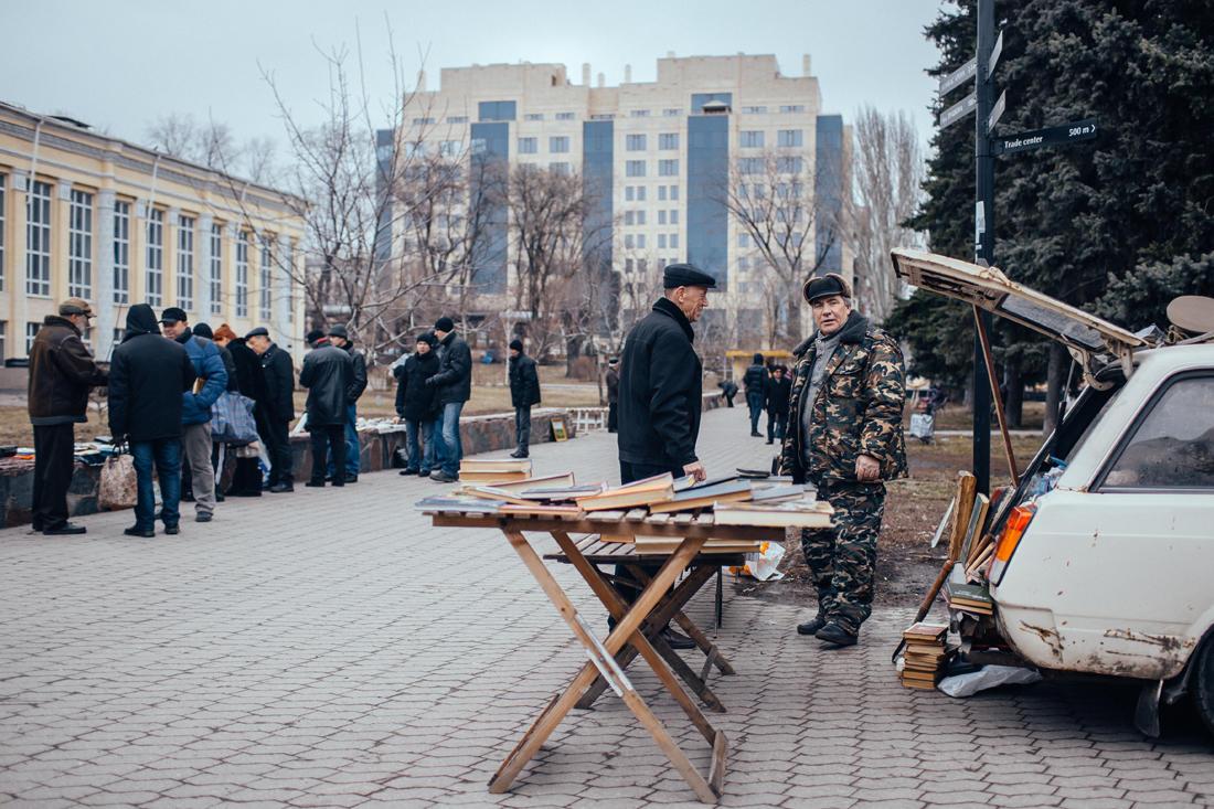 Was vom Donezker Flohmarkt übrig blieb. - Foto: Max Avdeev / Meduza