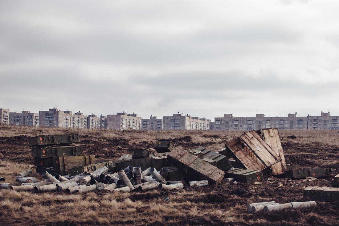 Am Rand von Jenakijewe, von wo aus die Separatisten ihre Artillerie abfeuerten. - Foto: Max Avdeev / BuzzFeed News