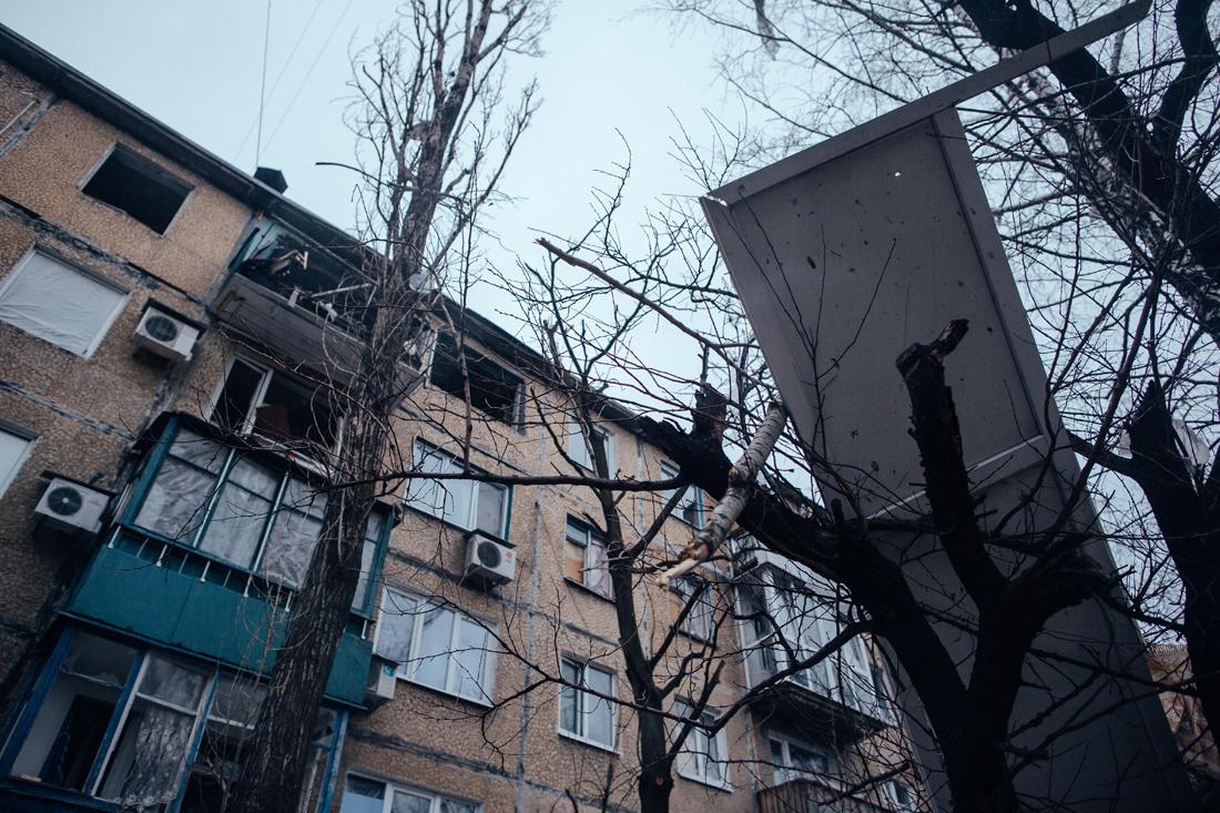 Stadtviertel Oktjabrskij, Donezk. -Foto: Max Avdeev / Meduza