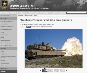 Screenshot von der Webseite army.mil