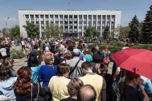 Über die Rechtmäßigkeit des Unabhängigkeitsreferendums in Mariupol im Vorjahr gibt es noch viele Fragezeichen. - Foto: Petr Shelmovskiy / Demotix.