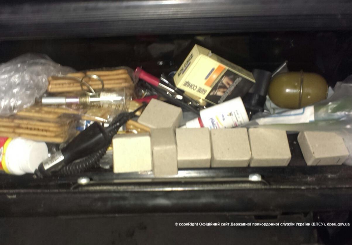 Im Lastwagen gefundene Munition