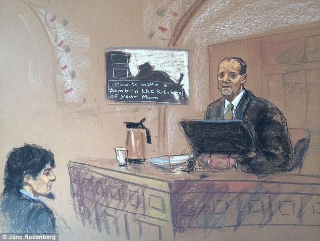 "Dschihadi-Propaganda auf Zarnajews Laptop: ""Wie man in Mamas Küche eine Bombe baut"" - Foto: Dailymail"