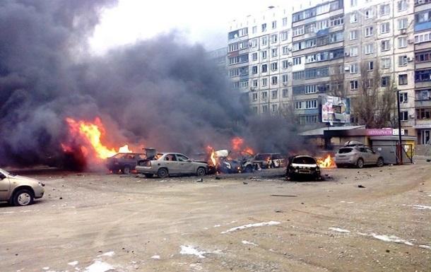 Die Folgen eines Artillerieangriff auf Mariupol im Januar 2015
