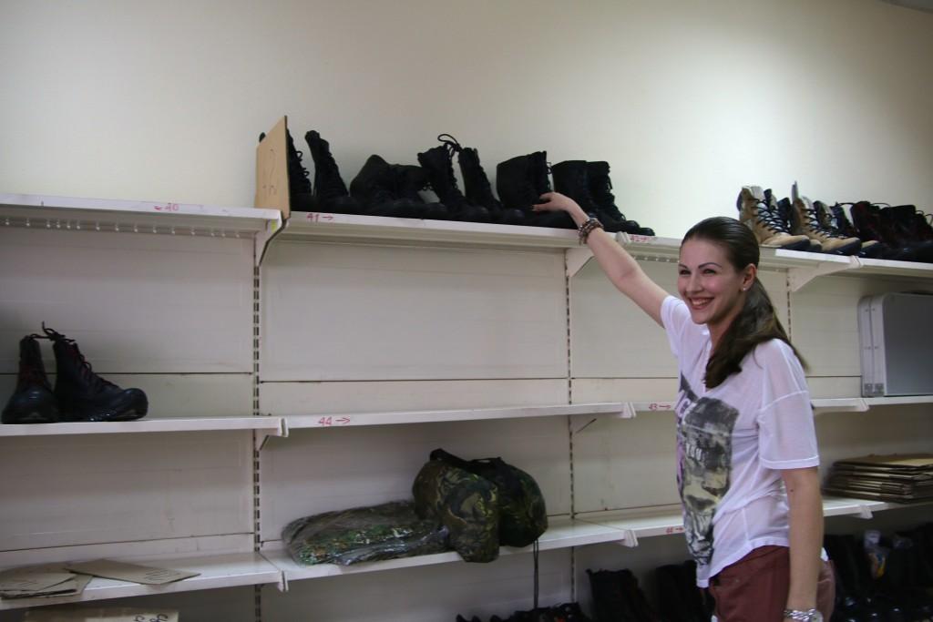 Julia Dimitrowa in ihrem Büro in Dnipropetrowsk