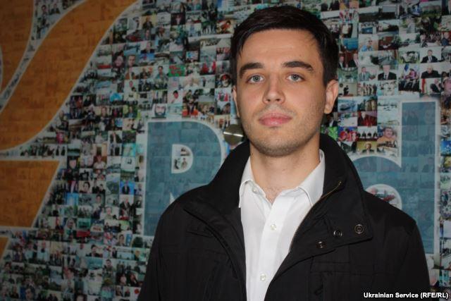 Jurij Jazenko in der Zentrale von Radio Liberty