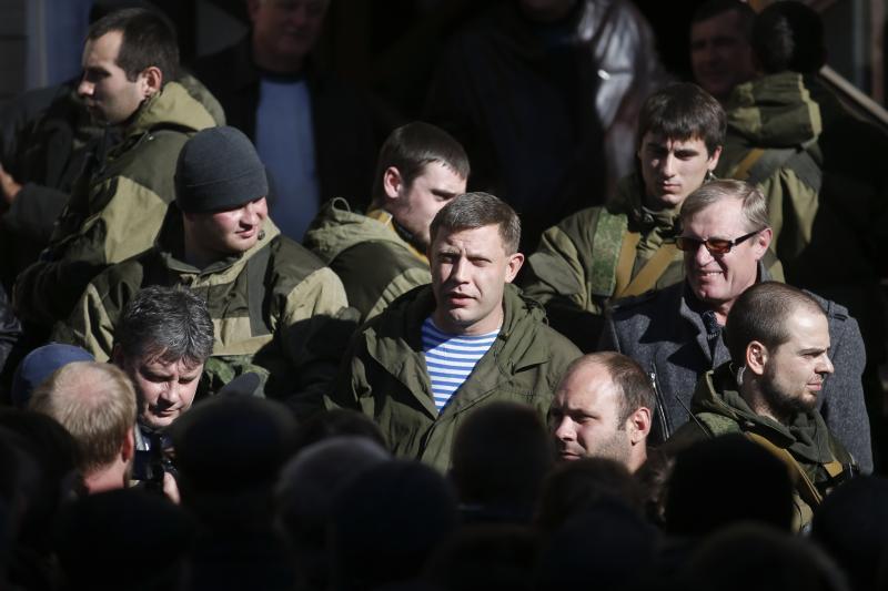 Alexander Sachartschenko an der Cholodnaja Balka Mine in Makjiwka, außerhalb von Donezk, 29. Oktober 2014